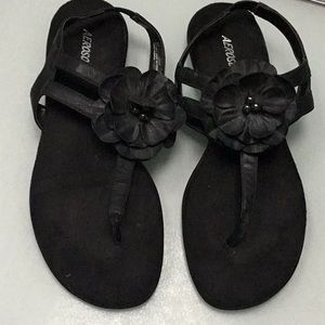 Black aerosoles Sandals worn 3 times